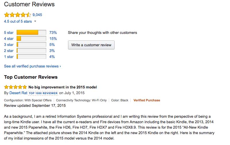 Reviews on amazon.com